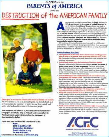 the destruction of the american family Why american culture and family are in disarray your country and your world must embark upon a constant vigil of prayer the family that will pray will stay.
