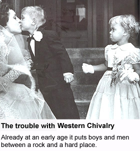 Western chivalry puts boy between a rock and a hard place
