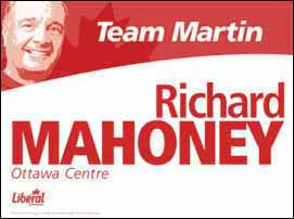 Liberal campaign poster for 2004 Canadian federal elections