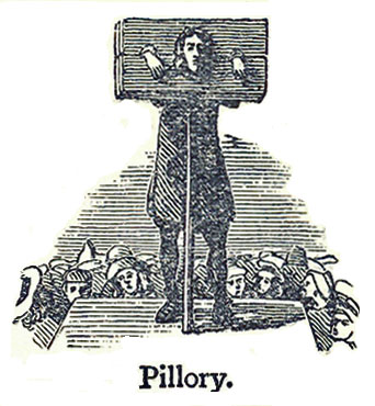 Man in pillory