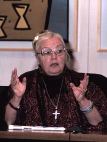 Erin Pizzey in Edmonton, 1998
