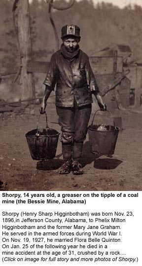 Patriarchal oppressor Shorpy, a 14-yr-old greaser in a coal mine