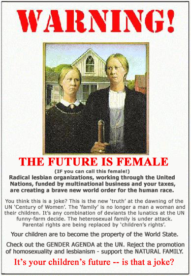 Poster: Warning - The Future is Female