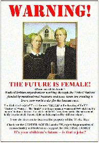"Poster ""Warning, The Future is Female"""