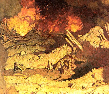 men at war, at the battle of Verdun